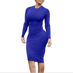 Casual Long Bodycon Midi Dress